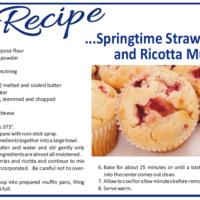 Recipe – Springtime Strawberry & Ricotta Muffins