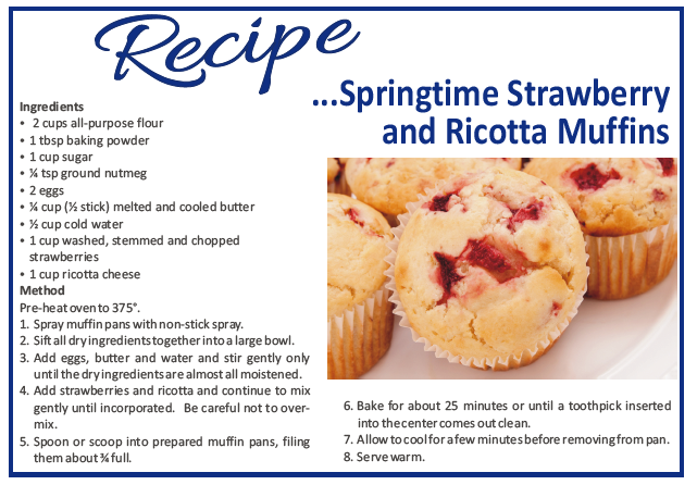 Recipe – Springtime Strawberry & Ricotta Muffins