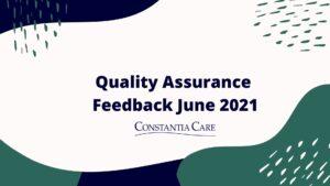 QUALITY ASSURANCE JUNE 2021