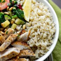 Quinoa with Chicken and Fresh Veggies