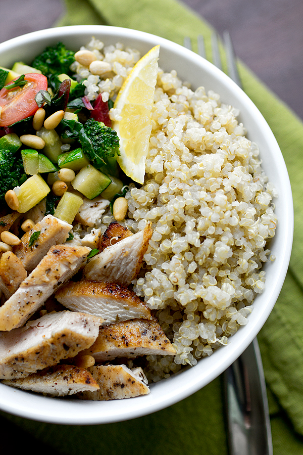 Quinoa with Chicken and Fresh Veggies